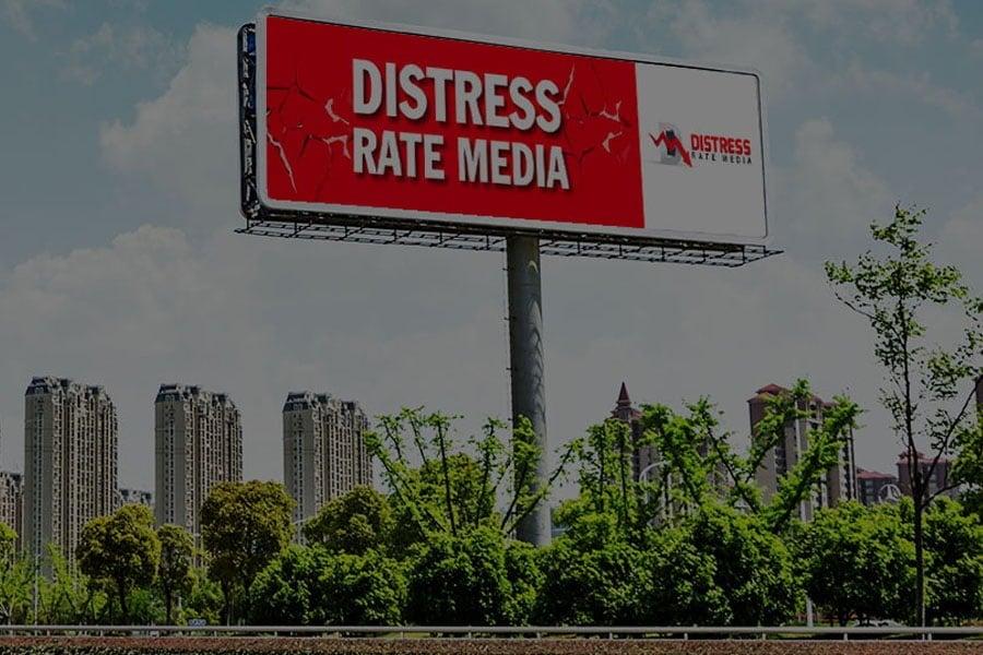 Distress Rate Media billboard